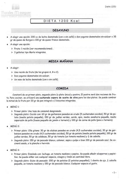 Dieta 1200 kcal pdf