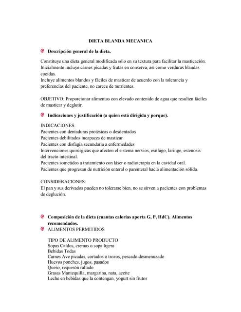Dieta blanda mecanica pdf