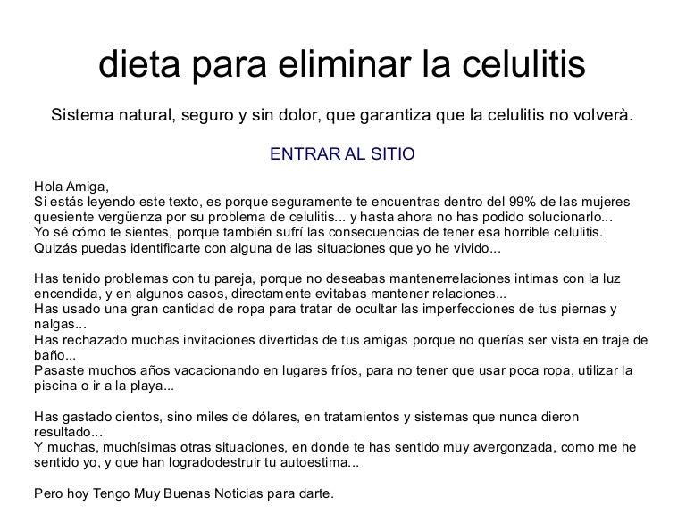Dieta para evitar celulitis