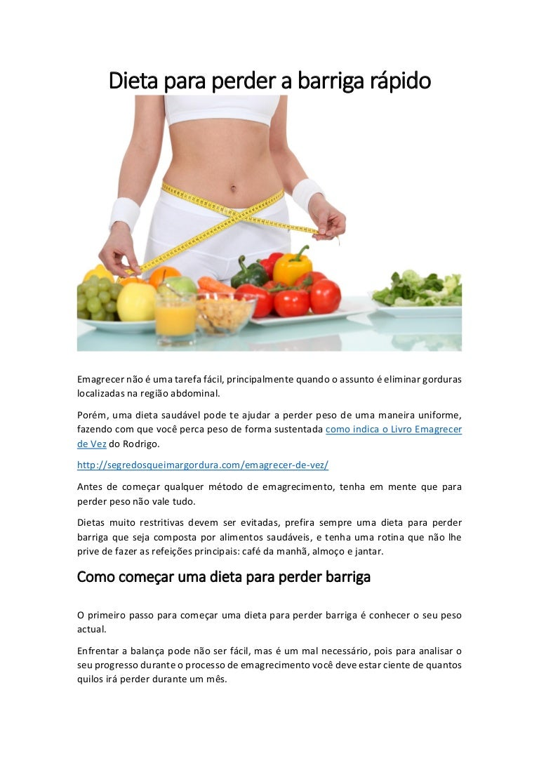 dieta como perder barriga