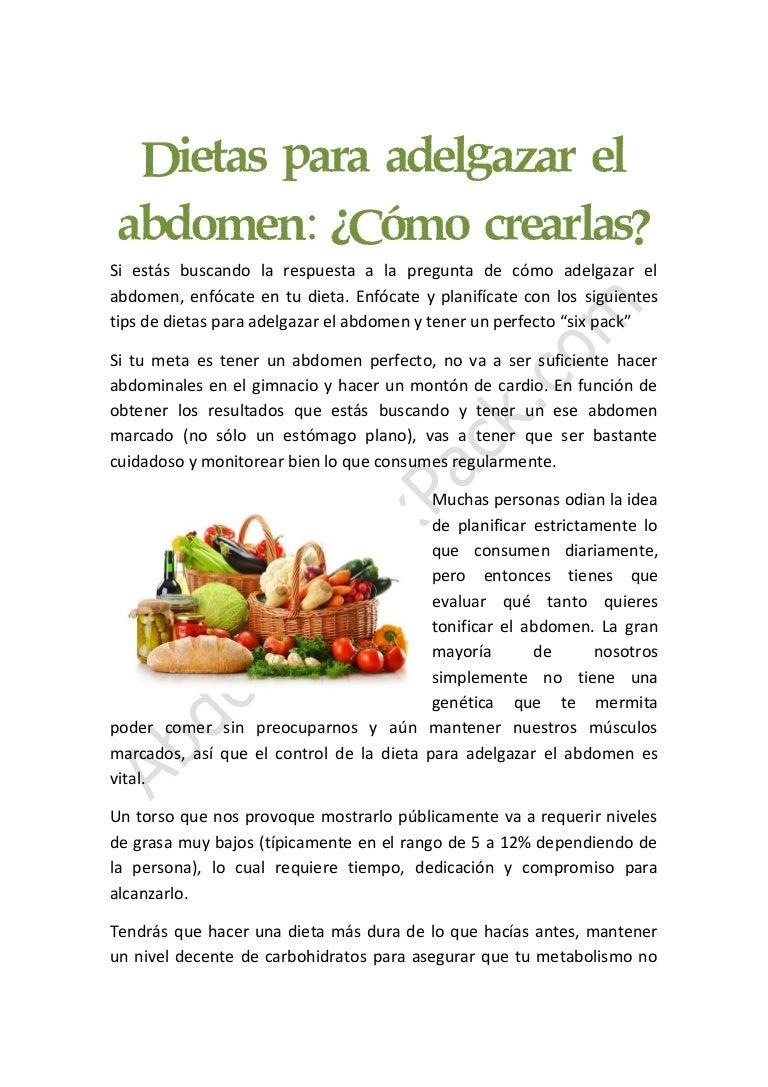 alimentos para tener un abdomen marcado