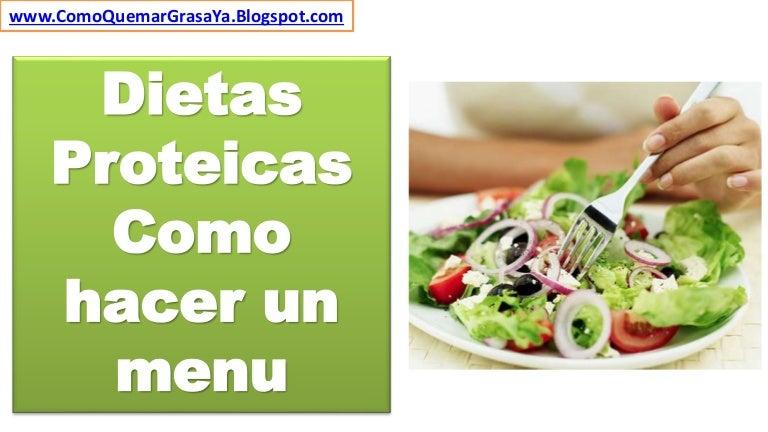 menu de dieta proteica