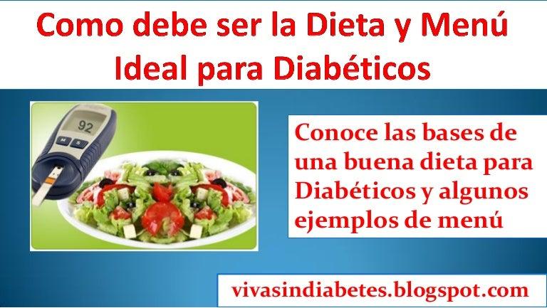 Dieta para diabeticos comida