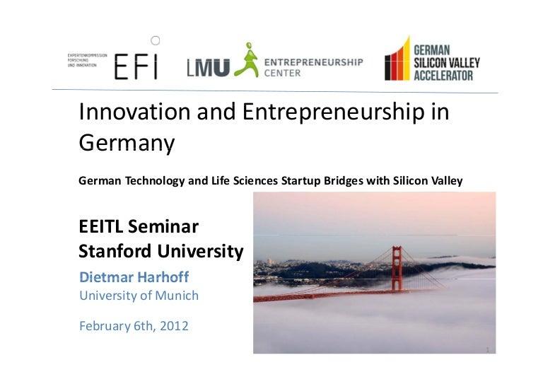 Dietmar Harhoff Unimunich Lmu Gsva Stanford Engineering Feb 6