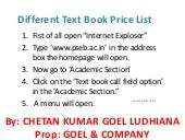 Different text book price list