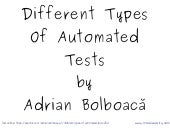 Different Types Of Automated Tests