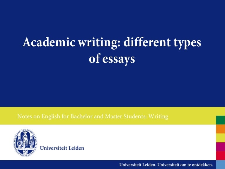 different types of essays - What Are The Types Of Essays