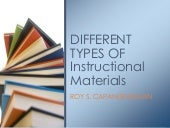 Different Types of Instructional Materials
