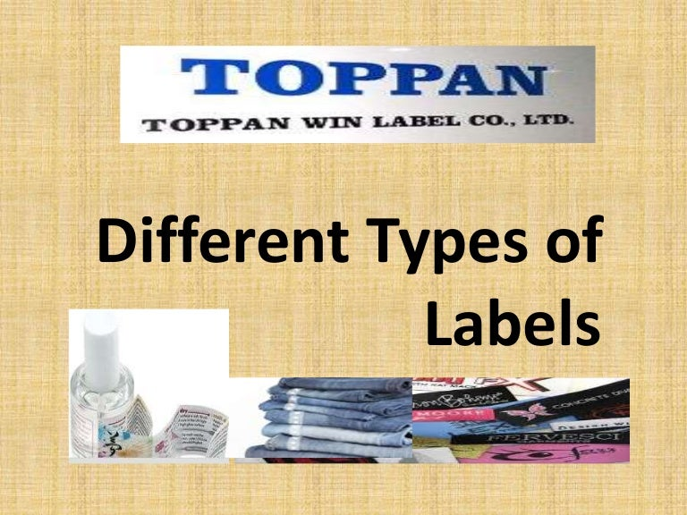 Different Types Of Labels