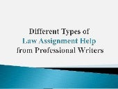 Different Types of Law Assignment Help from Professional Writers