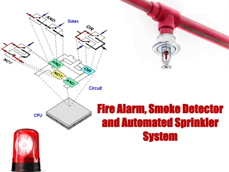Fire Alarm Smoke Detector And Automatic Sprinkle System