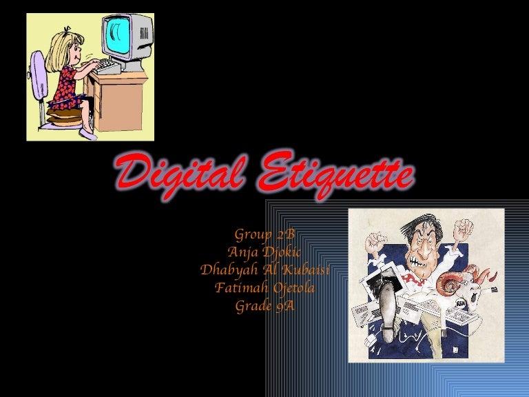 Digital Etiquette - k12elearning.com  Digital Etiquite