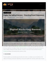 Digital Marketing Success – Boosting Brand Awareness