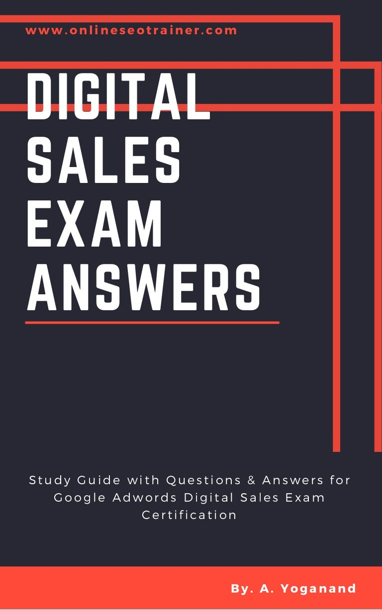 Digital sales exam google answers 2018 adwords digital sales exam xflitez Image collections