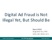 Digital Ad Fraud Is Not Illegal Yet
