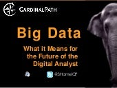 Big Data: What it means for the future of the digital analyst