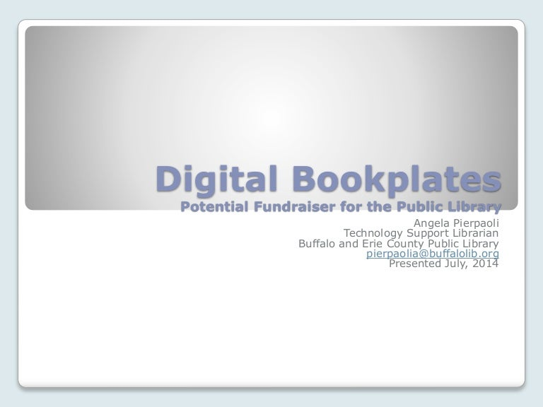 digital bookplates potential fundraiser for the public library, Templates