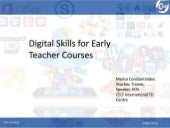 Digital Skills for Early Teacher Courses