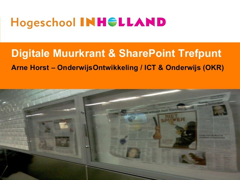 Fonkelnieuw Digitale Muurkrant + SharePoint Trefpunt JK-85
