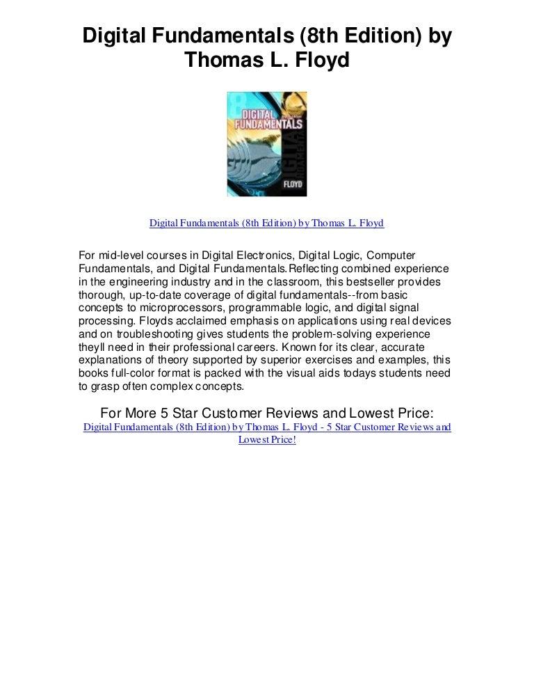 digital fundamentals 8th edition by thomas floyd rh slideshare net digital fundamentals floyd 10th edition solution manual pdf digital fundamentals floyd 9th edition solution manual pdf