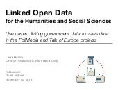 Guest Lecture: Linked Open Data for the Humanities and Social Sciences