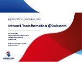 Intranet Transformation @Swisscom