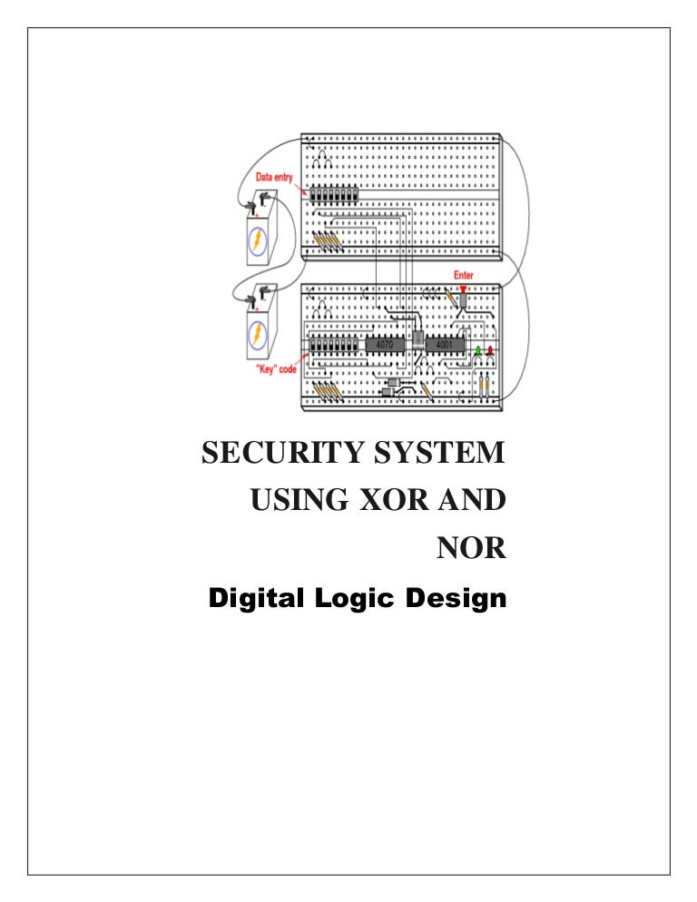 Security System using XOR & NOR