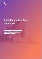 Digital marketing career handbook