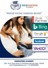Digital Marketing Course in Chandigarh Syllabus - WebHopers Academy