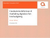 Digital marketing evolution - Il marketing digitale e l'allocazione del budget