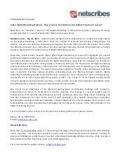 Market Research Report : Digital marketing in india 2015 - Press release