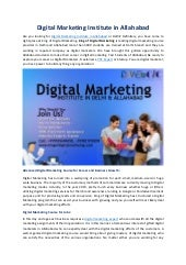 Digital marketing institute in allahabad kdm in rambagh