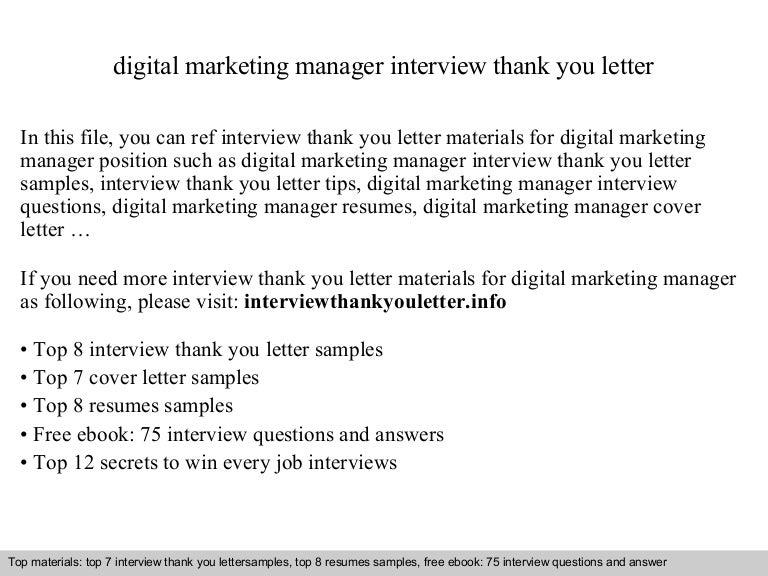 Digital Marketing Manager Cover Letter Sample. Marketing Assistant CV Sample