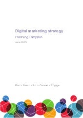 Digital marketing planning (2015 Strategy)