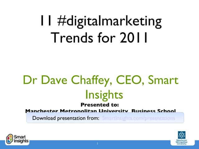Digital Marketing Trends 2011
