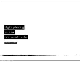 Digital Media Planning 2010