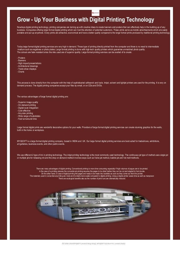 Digital printing technology - myqsoft
