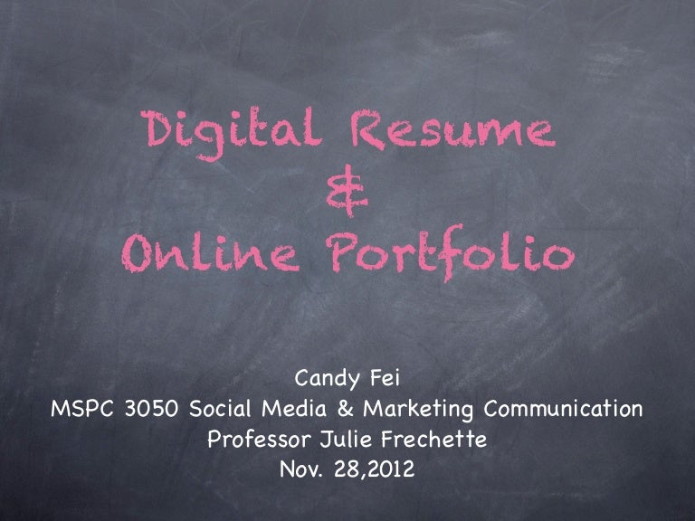 Digital Resume francis Digital Resume