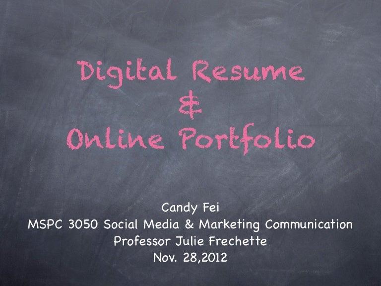 Digital Resume digital resume Digital Resume