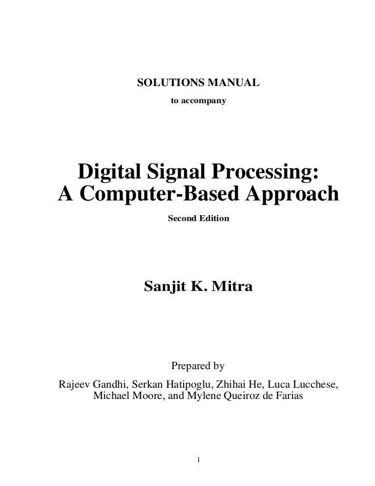 Digital signal processing mitra 4th edition solution manual youtube.