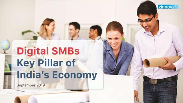 Digital SMBs - Key Pillar of India's Economy   Zinnov