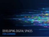 Developing Digital Spaces for Learning