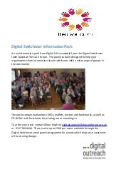 Digital Switchover Information Pack