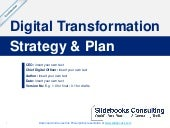 Digital Transformation Strategy and Plan Template