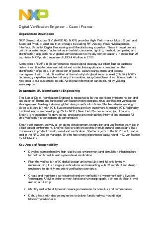 verification engineer resumes - Orgsan.celikdemirsan.com