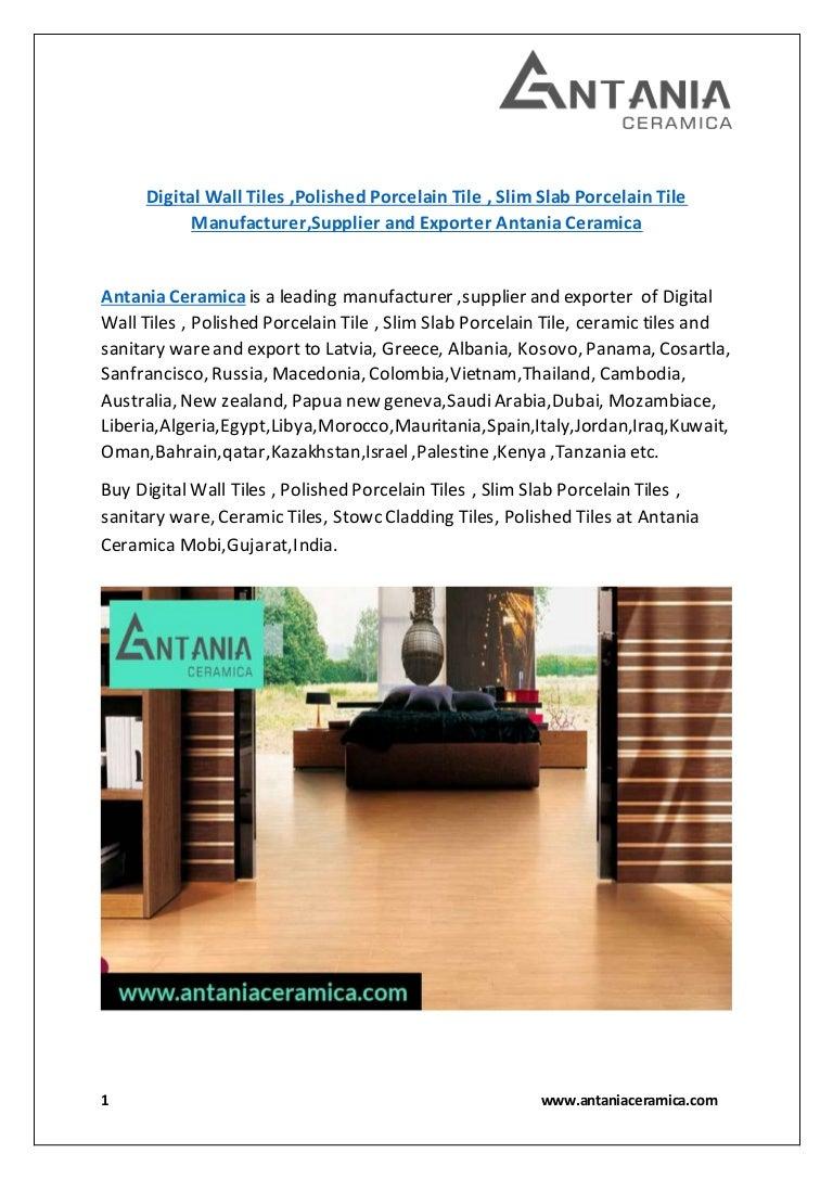 Digital wall tiles manufacturer supplier antania ceramica