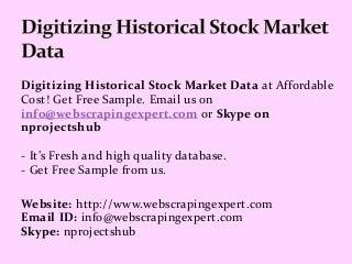 Digitizing Historical Stock Market Data