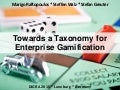 Enterprise Gamification Taxonomy