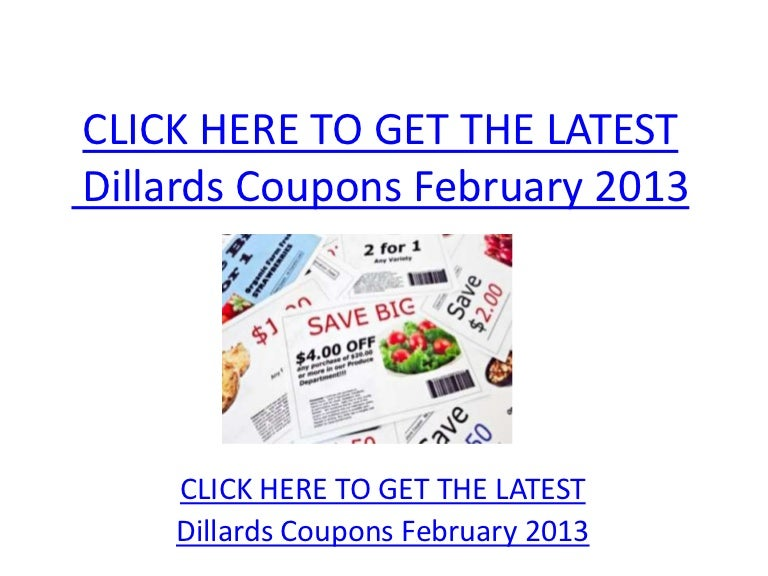 picture about Dillards Coupons Printable named Dillards Discount codes February 2013 - Printable Dillards Discount codes