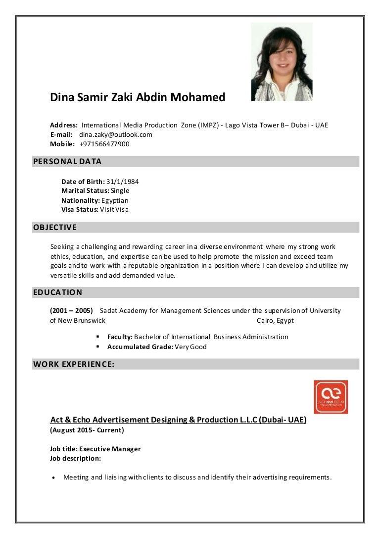 Charmant Lebenslauf Für Jobs In Dubai Fotos - Entry Level Resume ...
